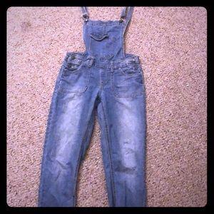 Pants - Blue Denim Skinny Leg Overall